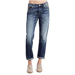 True Religion Women's Audrey Mid Rise Slim Boyfriend Jeans In Oceana Blue