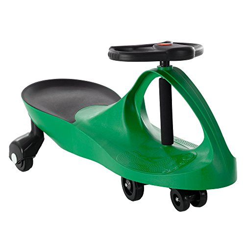 Ride On Car, No Batteries, Gears or Pedals, Uses Twist, Turn, Wiggle Movement to Steer Zigzag Car-Green, for Toddlers, Kids, 2 Years Old and Up -