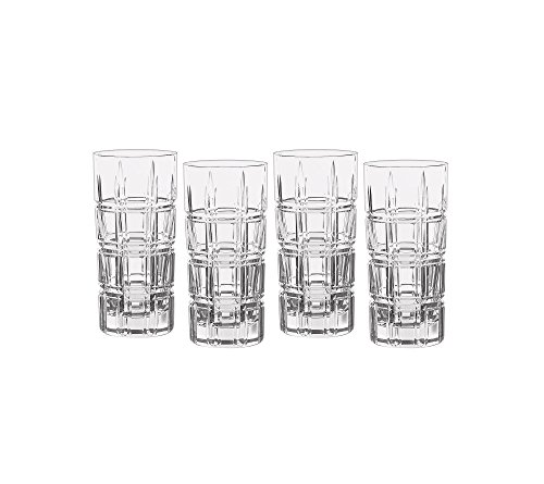 Marquis by Waterford Crosby Plaid Set Of 4 Highball Glasses