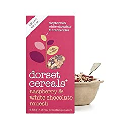 Dorset Cereals Raspberry & White Chocolate Muesli 685g - Pack of 2