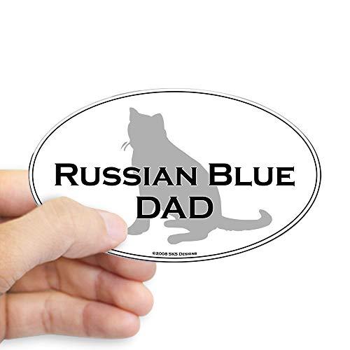 CafePress Russian Blue Dad Oval Sticker Oval Bumper Sticker, Euro Oval Car Decal ()