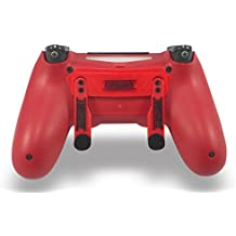 PS4 Elite Magma Red Custom Controller with Paddles, Trigger Stops. Professional level graded equipment. Tournament approved and legal! For FPS games, COD WW2, Fortnite, Destiny