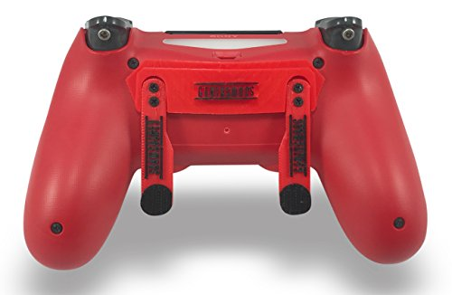 Cheap PS4 Elite Magma Red Custom Controller with Paddles, Trigger Stops. Professional level graded equipment. Tournament approved and legal! For FPS games, COD WW2, Fortnite, Destiny