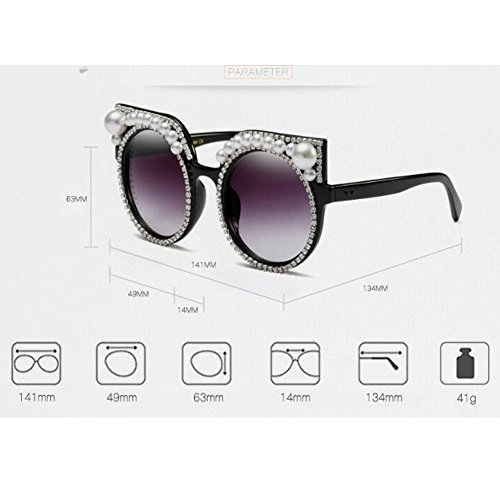 Triangle Vintage Super Chic Mod Eyewear Brillant Eye Mode de C2a Gris soleil Hzjundasi Cat Retro Noir lunettes femmes PtwHxq