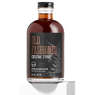Strongwater Old Fashioned Cocktail Syrup (Makes 32 Cocktails) Non-Alcoholic Drink Mixer - Handcrafted with Bitters & Organic Demerara Sugar