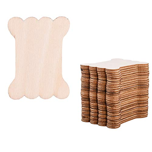 Cosmos 30 Pieces Packed Natural Wood Thread Bobbins Spool Bone Shaped for Craft DIY Project, Cross Stitch Embroidery Floss Sewing Tools - $7.99