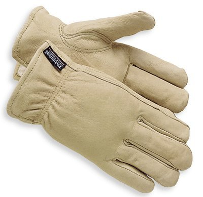 Winter Lined Driver-Pigskin Thinsulate - WINTER LINED PIGSKIN DRIVER GLOVE-X-LARGE