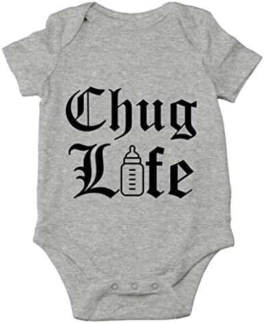 AW Fashions Chug Life - Parody Cute Novelty Funny Infant One-Piece Baby Bodysuit
