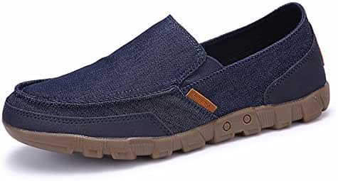 Slip on Shoes for Men Canvas Comfort Casual Loafers Vintage Walking Sneakers Breathable Boat Shoes