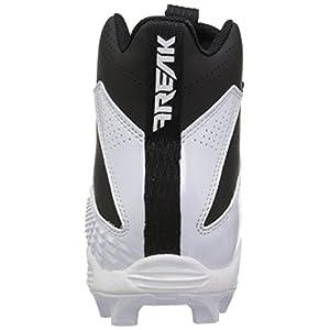 adidas Originals Unisex-Kids Freak Mid MD J Football Shoe, FTWR White, Core Black, Core Black, 4.5 M US Big Kid