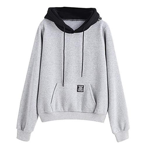 [해외]Thenxin Women`s Long Sleeve Hoodie Sweatshirt Casual Drawstring Pullover Top with Front Pocket / Thenxin Women`s Long Sleeve Hoodie Sweatshirt Casual Drawstring Pullover Top with Front Pocket(Gray,S)