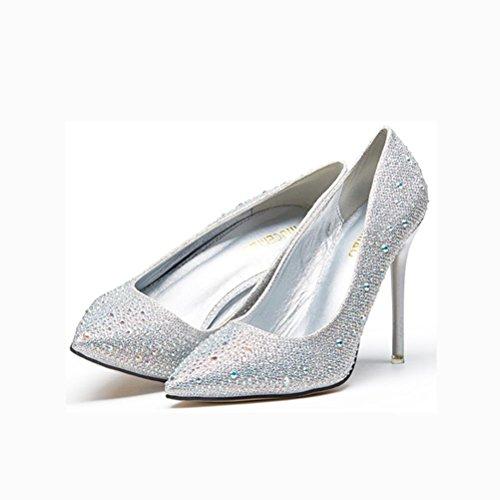 Diamanti Tacchi 38 Ha 36 Bocca Poco Di Highxe Uniti Sottolineato Singoli Della E Pattini Stati Silver10cm Europa Alti Sexy Profondi YxqxAw1d