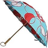 【和傘屋北斎グラフィック】和柄テキスタイル16本長傘 朝顔
