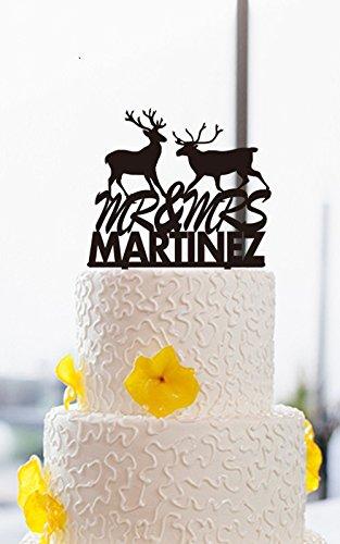 Paare Hirsch Herr Und Frau Hochzeit Tortenaufsatz Personalisiert