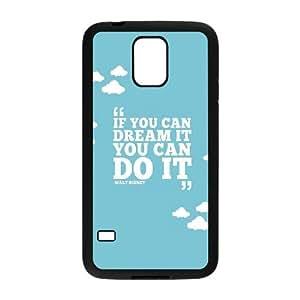 Samsung Galaxy S5 Cell Phone Case Black If You Can Dream O2N1YB