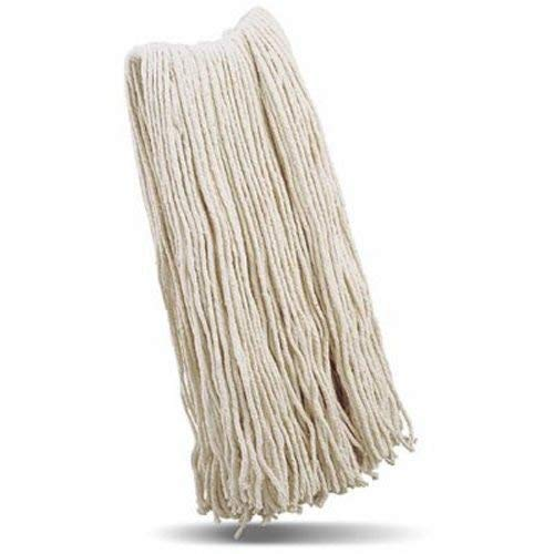 Libman Commercial 976 32 Cut-End Wet Mop Head, Recycled Cotton Blend, 28 oz, White (Pack of 6)