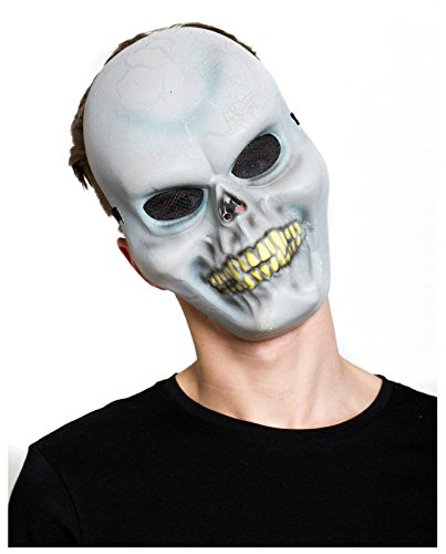[Men's Crackle Skull Mask (White)] (Flower Zombie Costumes For Girls)