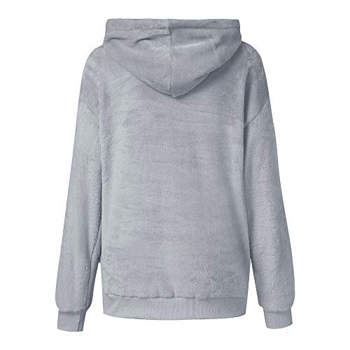 Grande Femme Taille 3 GongzhuMM Chandail Sweats 34 Hoodie Polaire Sweater Pull 46 Gris Sweatshirt Capuche Femme EU Courte Capuche Sweats Pullover zq58xz