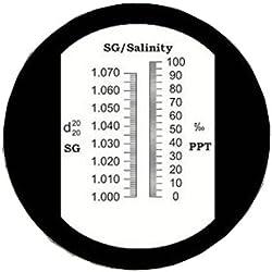Sinotech Hand Held Salinity Refractometer Rhsn-10atc Built-in Calibration Knob 6pcs Per Lot