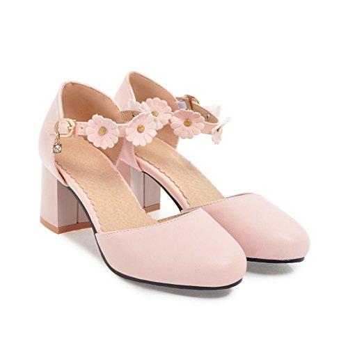 Toe Mujer Bloque Pink Sandalias Mei Redonda Puntera Peep amp;S Tacones tqqApwOx