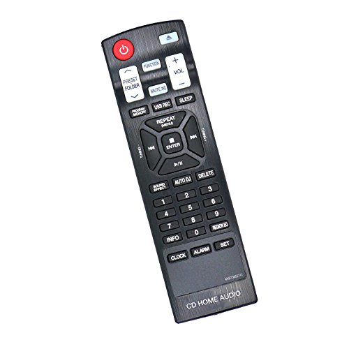 New AKB73655741 Replaced Remote Control fit for CM4350 CM4550 CMS4350F CMS4550F CMS4550W LG CD Home Audio Mini Hi-Fi System