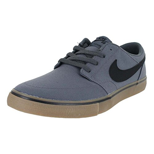 Nike Mens SB Portmore II Solar CNVS DK Grey Black Gum Light Brown Size 8