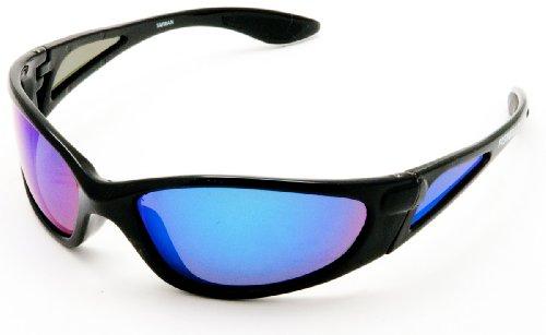 FishGillz The Daytona Black Frame with Blue Revo - Fishgillz Sunglasses