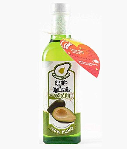Ahuacatlán Aceite de Aguacate Puro, Sabor Cebolla, 250 ml