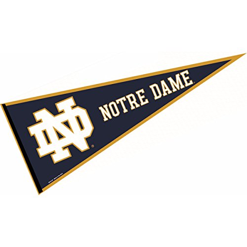 Notre Dame University Football - College Flags and Banners Co. Notre Dame Pennant Full Size Felt