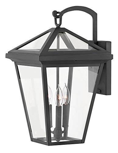 Hinkley 2565MB Alford Place Outdoor Wall Sconce, 3-Light, 180 Total Watts, Museum Black