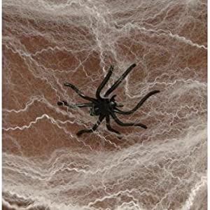 fun express halloween spider webs spiderwebs with plastic spiders 12 packs - Halloween Spiders