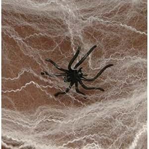 Fun Express Halloween Spider Webs Spiderwebs With Plastic Spiders - 12 Packs