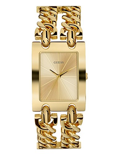 GUESS  Gold-Tone Multi-Chain Bracelet Watch with Self-Adjustable Links. Color: Gold-Tone (Model: ()