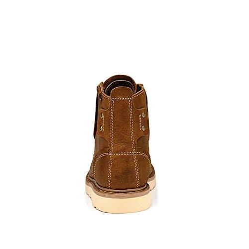 ICEGREY Herren Leder Chukka Stiefel Winter Boots Stiefeletten Braun EU 38