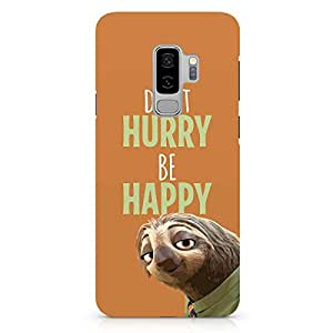 Loud Universe Dony Hurry Zootopia Samsung S9 Plus Case Zootopia Sloth Samsung S9 Plus Cover with 3d Wrap around Edges