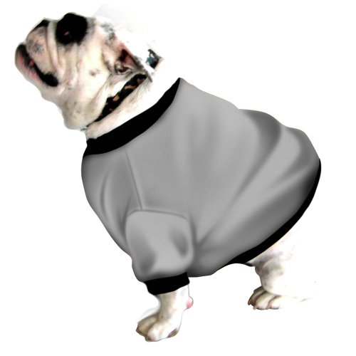 Cheap English Bulldog Dog Shorty Sweatshirt Beefy Heather Grey