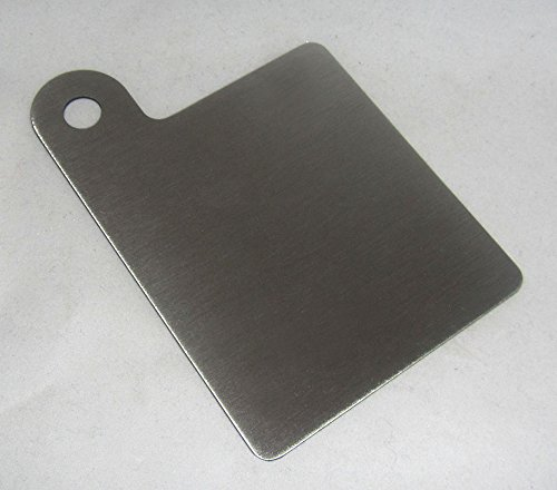 "304 Stainless Steel Motorcycle Inspection Sticker Plate 3"" x 3.25"" Part No. RP0003 MADE IN THE USA"