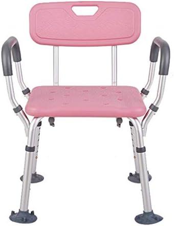 Bad Stuhl Duschhocker Dusche-Sitz, Mit Rückenlehne Ältere Menschen Dusche Hocker Badstuhl Erwachsener Badezimmerhocker Rutschfester Badstuhl Mit Armlehnen für Verletzte, Behinderte, Schwangere Badehil