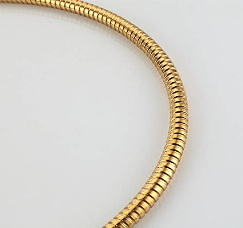 Hireomy 1,5 m enchapado en oro de acero inoxidable manguera de la ducha corrugado 304 de manguera de la ducha a prueba de /óxido temperatura de entrada de agua