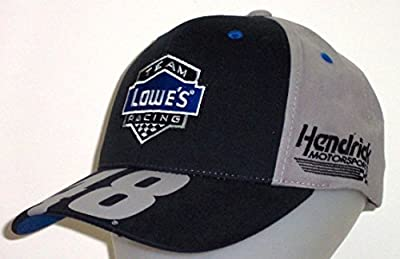 Nascar Jimmie Johnson Lowe's Racing Big Number Adjustable Hat / Cap from Checkered Flag Sports