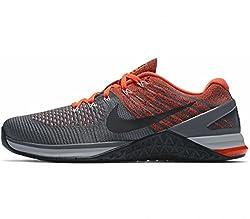 Nike Mens Metcon Dsx Flyknit Darkgreywolfgreyhypercrimson (8.5)