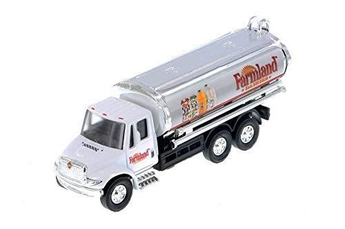 Milk Tanker Trucks - Showcasts International Milk Tanker Truck, Farmland Dairies 2105FD/MK - 1/43 Scale Diecast Model Toy Car but NO Box