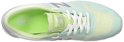 New Balance Womens 696 Re-engineered Lifestyle Fashion Sneaker Verde / Bianco