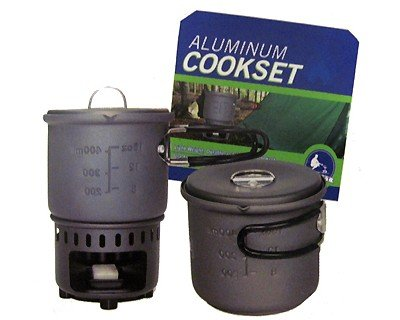 (7943 Bleuet 600 ML Aluminum Cookset - Stove )