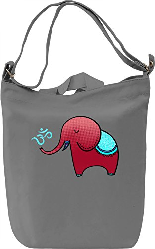 Elephant In Indian Style With Om Symbol Borsa Giornaliera Canvas Canvas Day Bag| 100% Premium Cotton Canvas| DTG Printing|