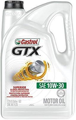 Castrol 03093 GTX 10W-30 Motor Oil, 5 Quart