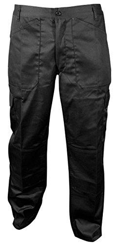 Blackrock Herren Lang Bein Länge Active Cargo Hosen–Schwarz, 111,8cm
