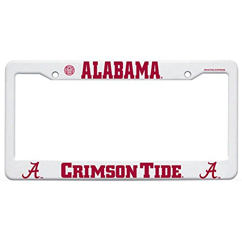 Rico Industries NCAA Alabama Crimson Tide Plastic License Plate Frame