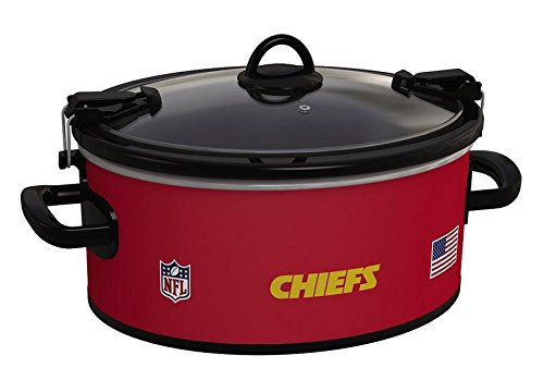 Official NFL Crock-pot Cook Carry 6 Quart Slow Cooker – Kansas City Chiefs