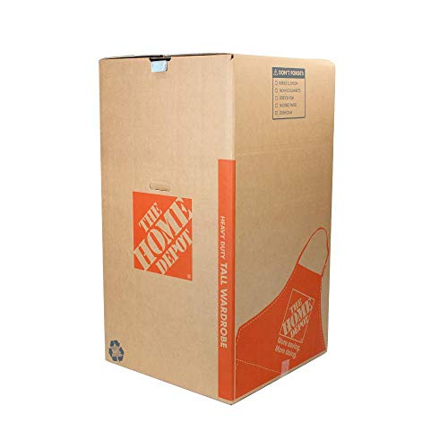 The Home Depot 65 lb. Tall Wardrobe Box